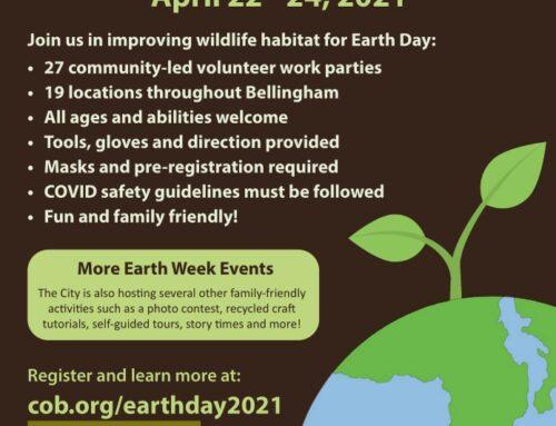 Earth Week Volunteer Events – April 22-24, 2021